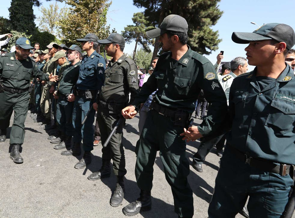 Iranian police pictured in 2013