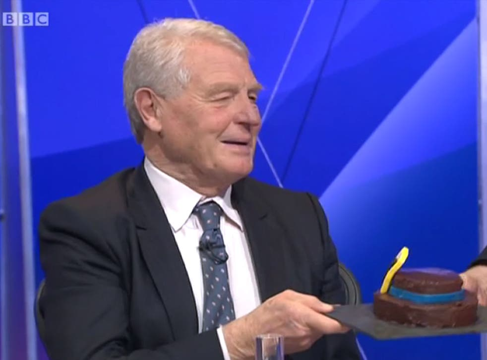 Lord Ashdown said he'd eat his hat if the Conservatives claimed a majority in the election