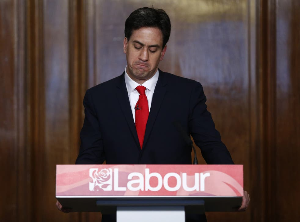 Ed Miliband delivers his resignation speech having decided to step down immediately