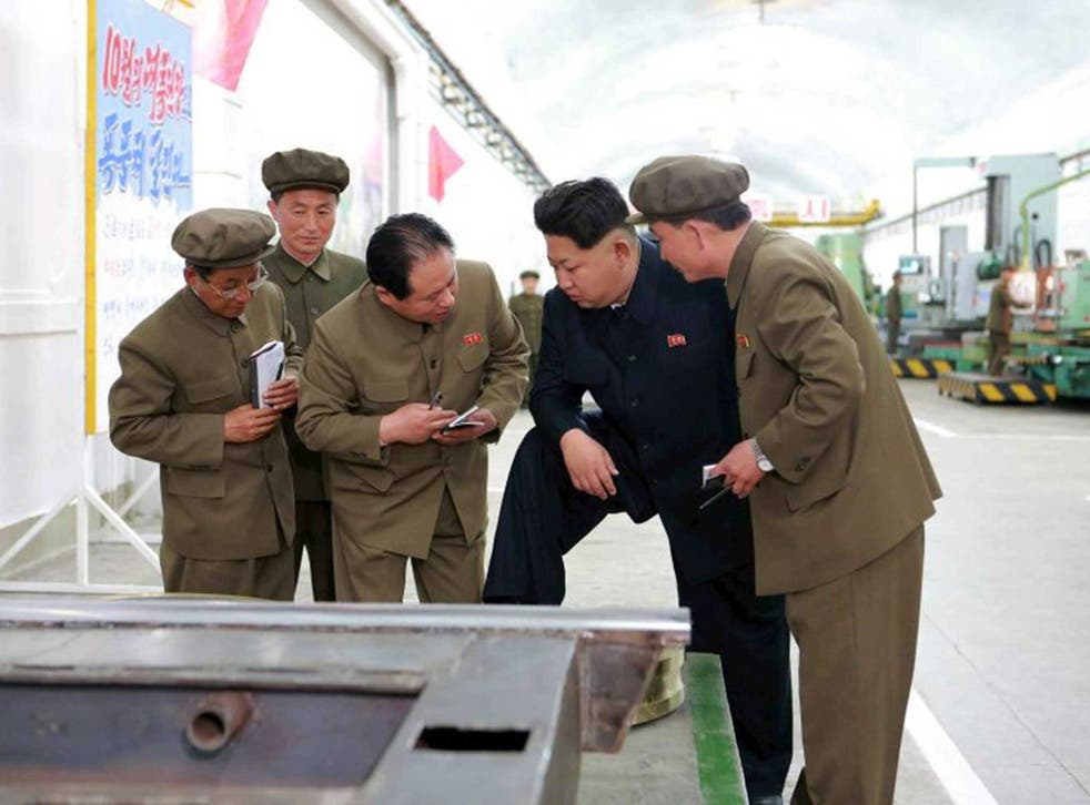 Jim Jong-un is on hand to dispense advice during the ballistic missiles reportedly successful test launch