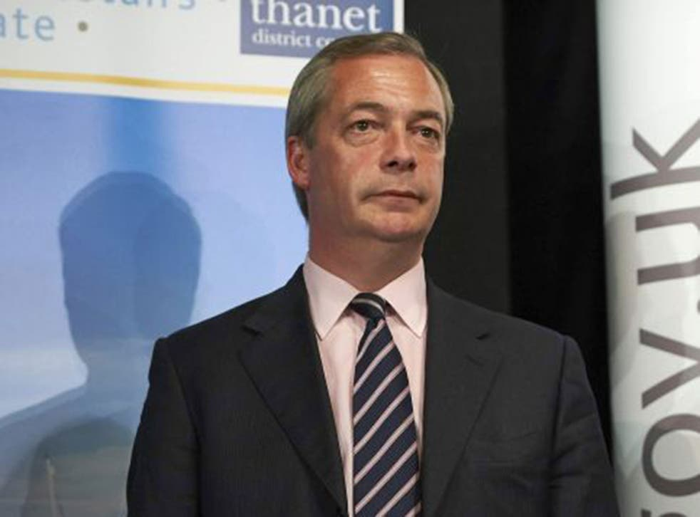 Nigel Farage decided to stand down after he was unable to win in Thanet South