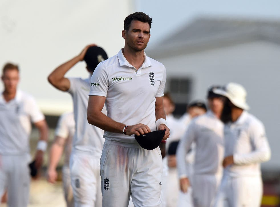 England's leading wicket-taker James Anderson