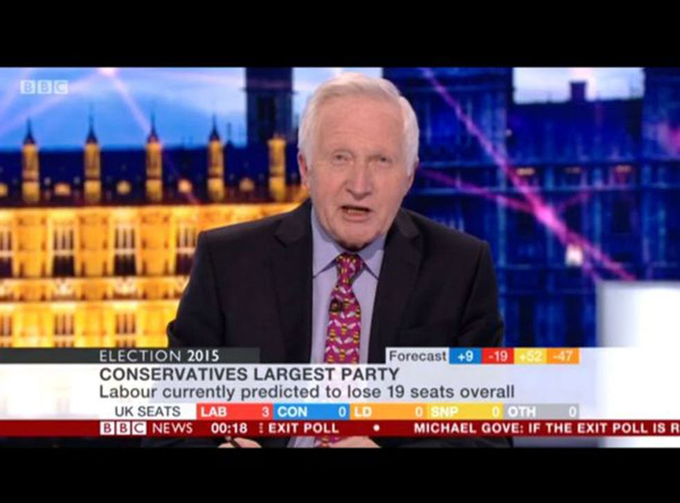David Dimbleby anchoring the BBC's coverage