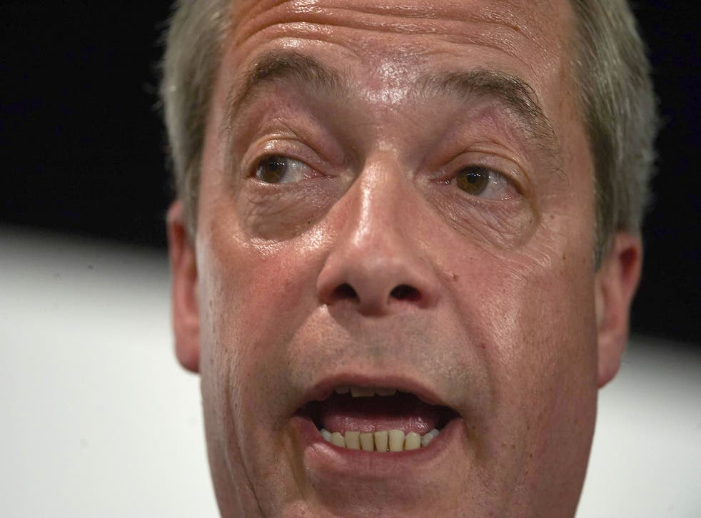 Nigel Farage conceded defeat in the South Thanet poll on Friday morning