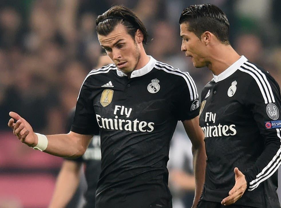 Gareth Bale with Cristiano Ronaldo