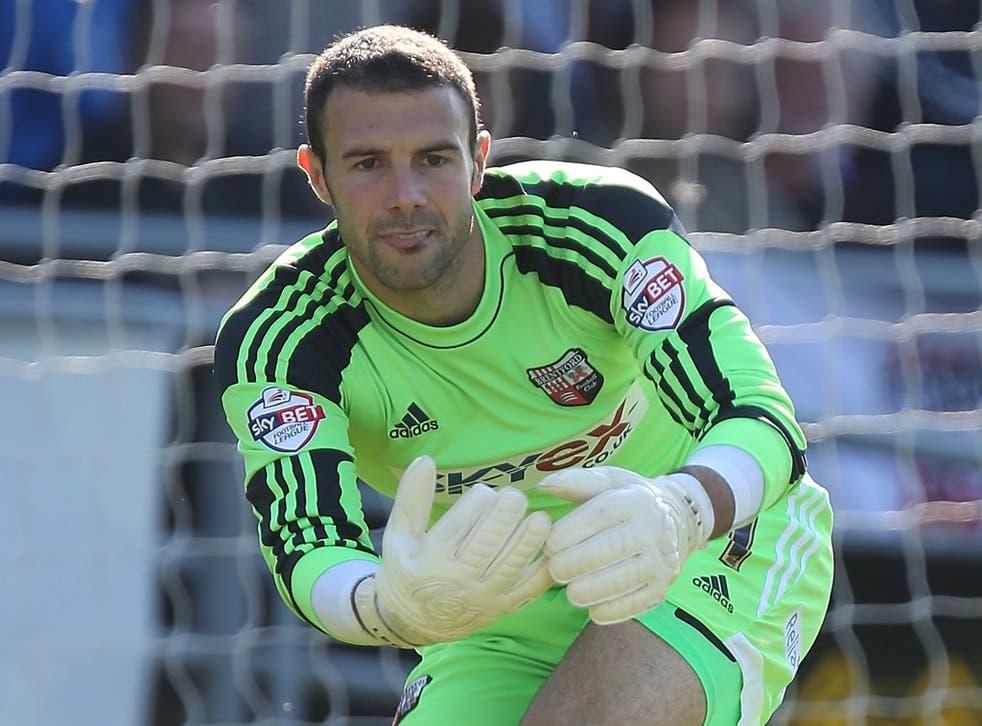 Brentford goalkeeper Richard Lee