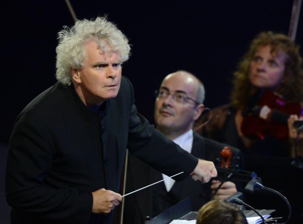 Sir Simon Rattle, outgoing Berlin Philharmonic artisticdirector