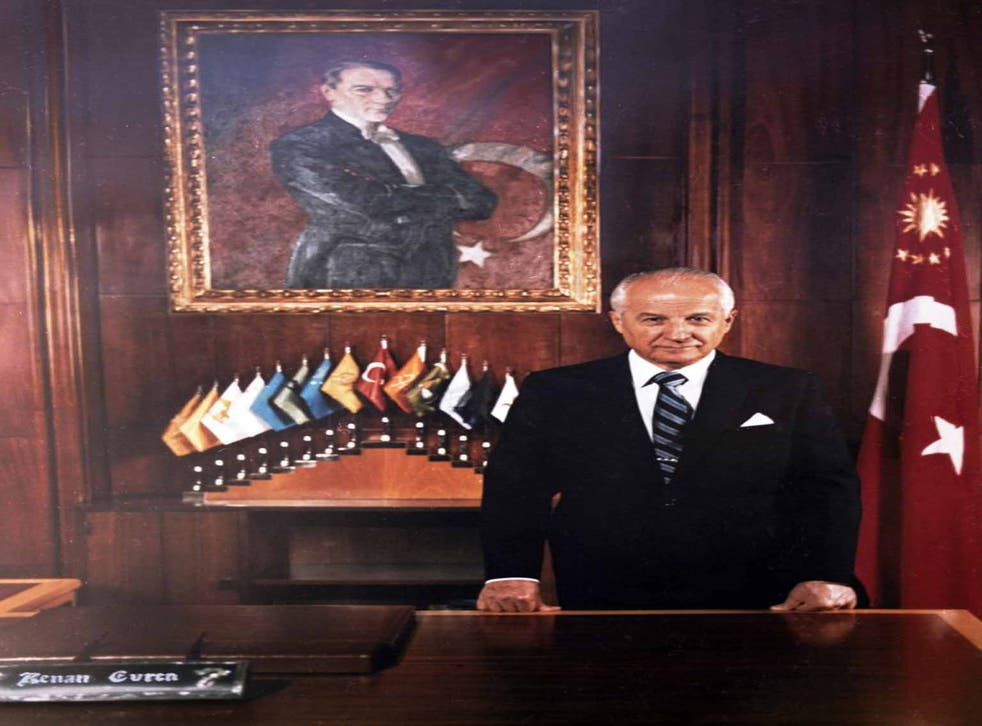 Evren in 1982: 'A whole generation was destroyed,' said one victim of his regime. 'Turkey's future was darkened.'