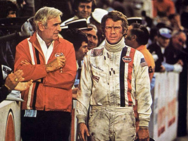 On the wrong track: Ronald Leigh-Hunt and McQueen in 'Le Mans'