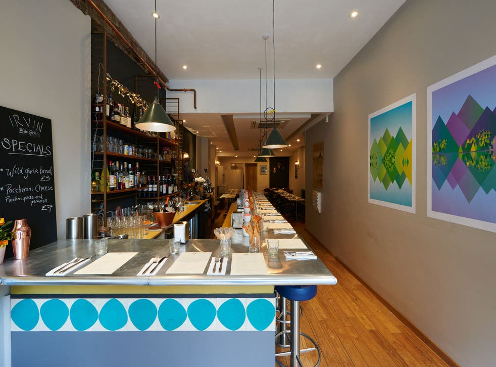 The Irvin is a tiny storefront holding a handful of tables, with counter seating at the bar
