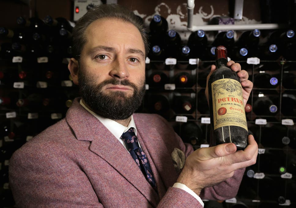 cc22eeff4930 Wine expert Tom Harrow with his rare vintages on Channel 4 s The World s  Most Expensive Food