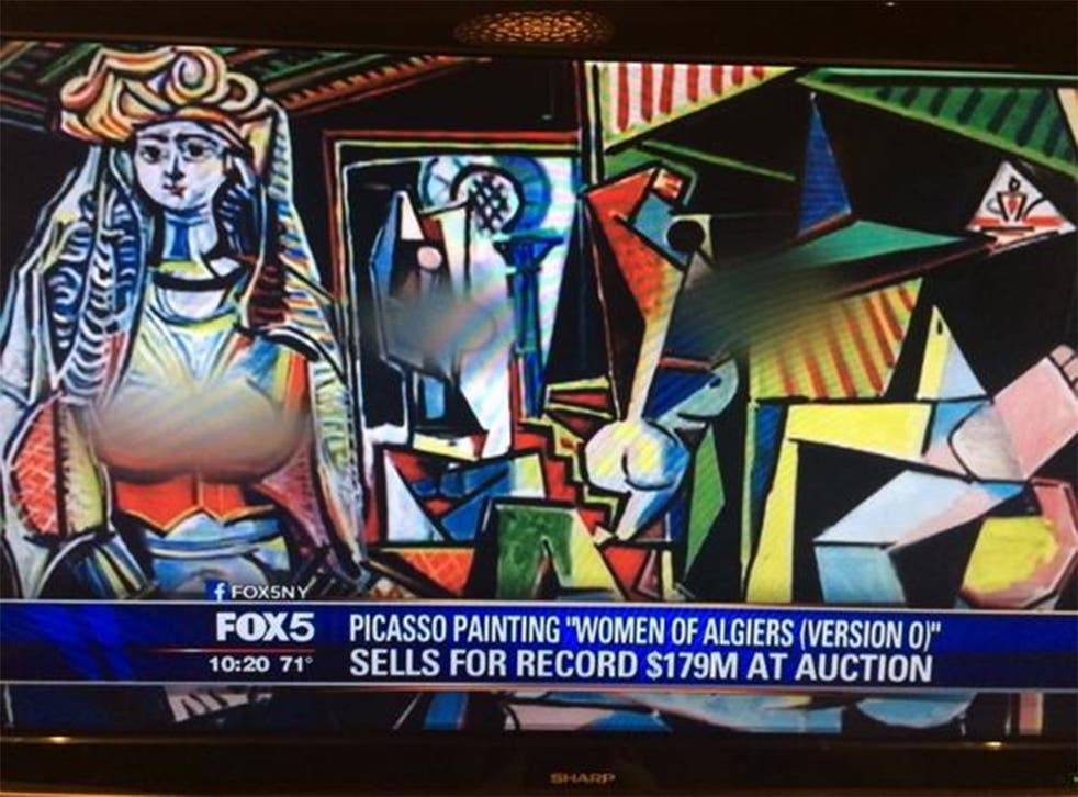 Fox News decided to cover up the breasts and genitals depicted in Picasso's Women of Algiers, which sold for a record auction price of $179m this week