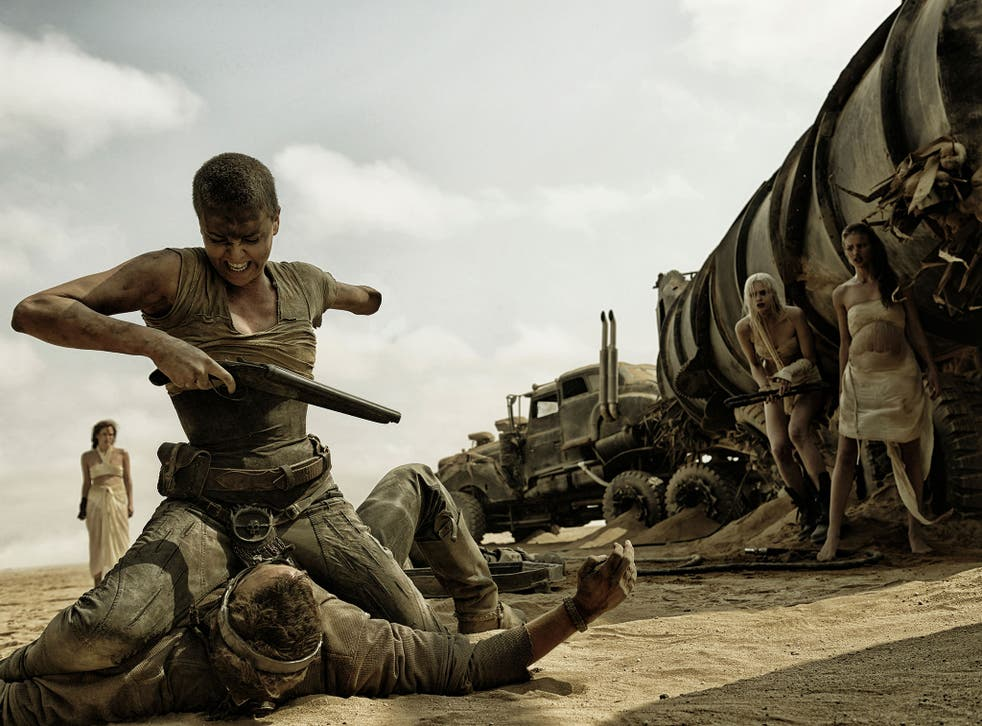 Putting the boot in: Charlize Theron and Tom Hardy in 'Mad Max: Fury Road'