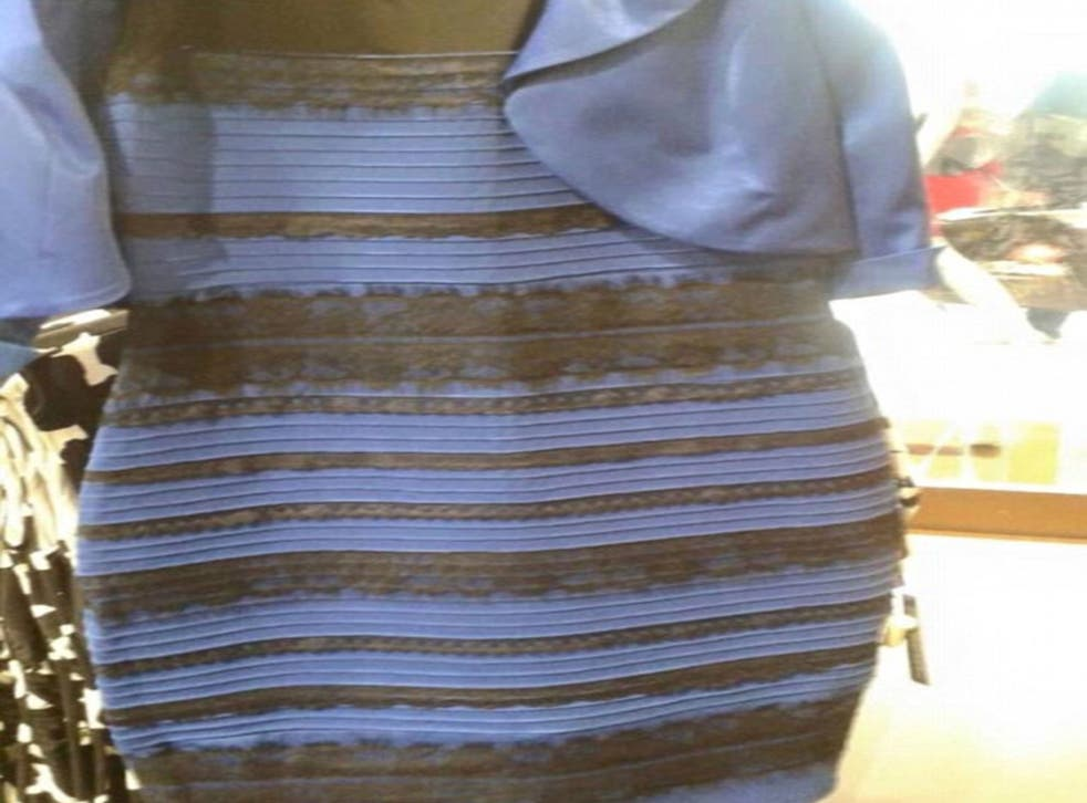 Well worn: this picture went viral as viewers perceived its colours in different ways