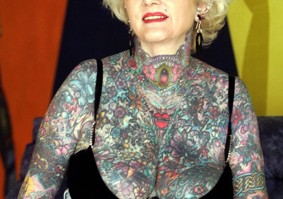 dbd5d31af Isobel Varley poses ahead of the 1st International Tattoo Convention in  Argentina in 2005.
