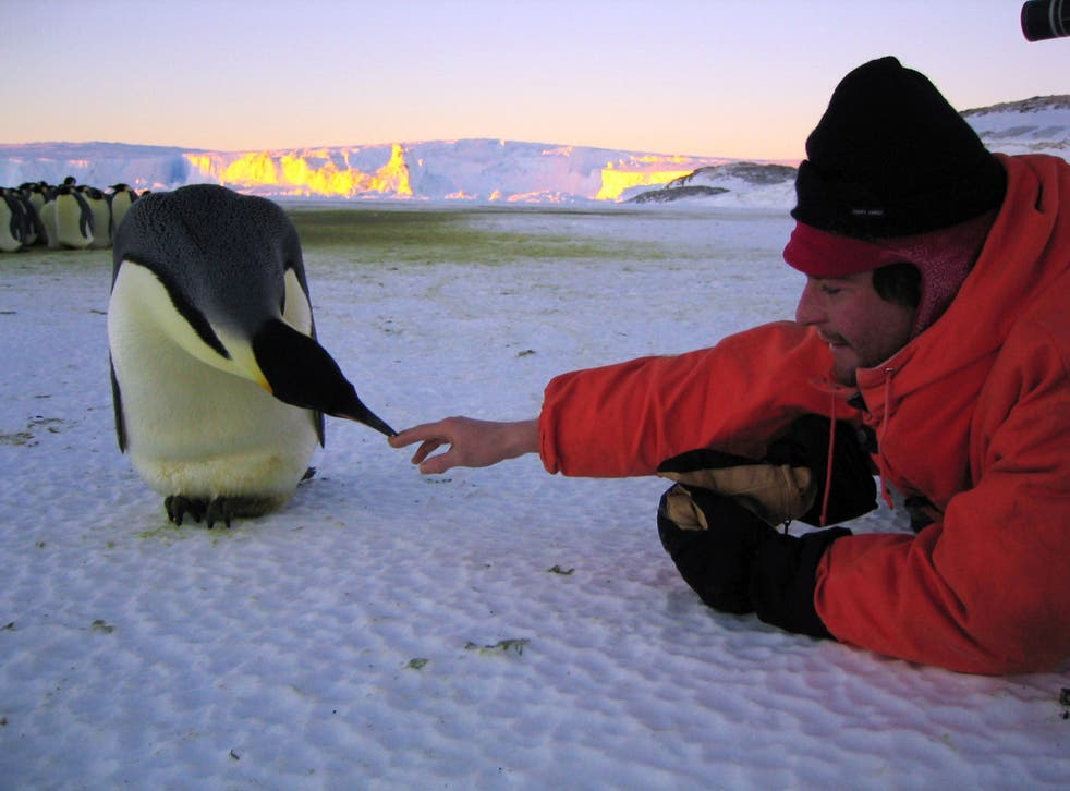 Director Luc Jacquet wants to raise awareness of the plight of animals in a warming Antarctica