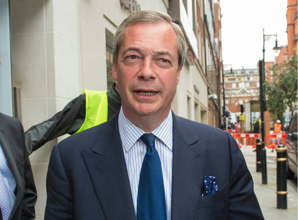 Nigel Farage has spoken about UKIP being banned from Pride in London Parade
