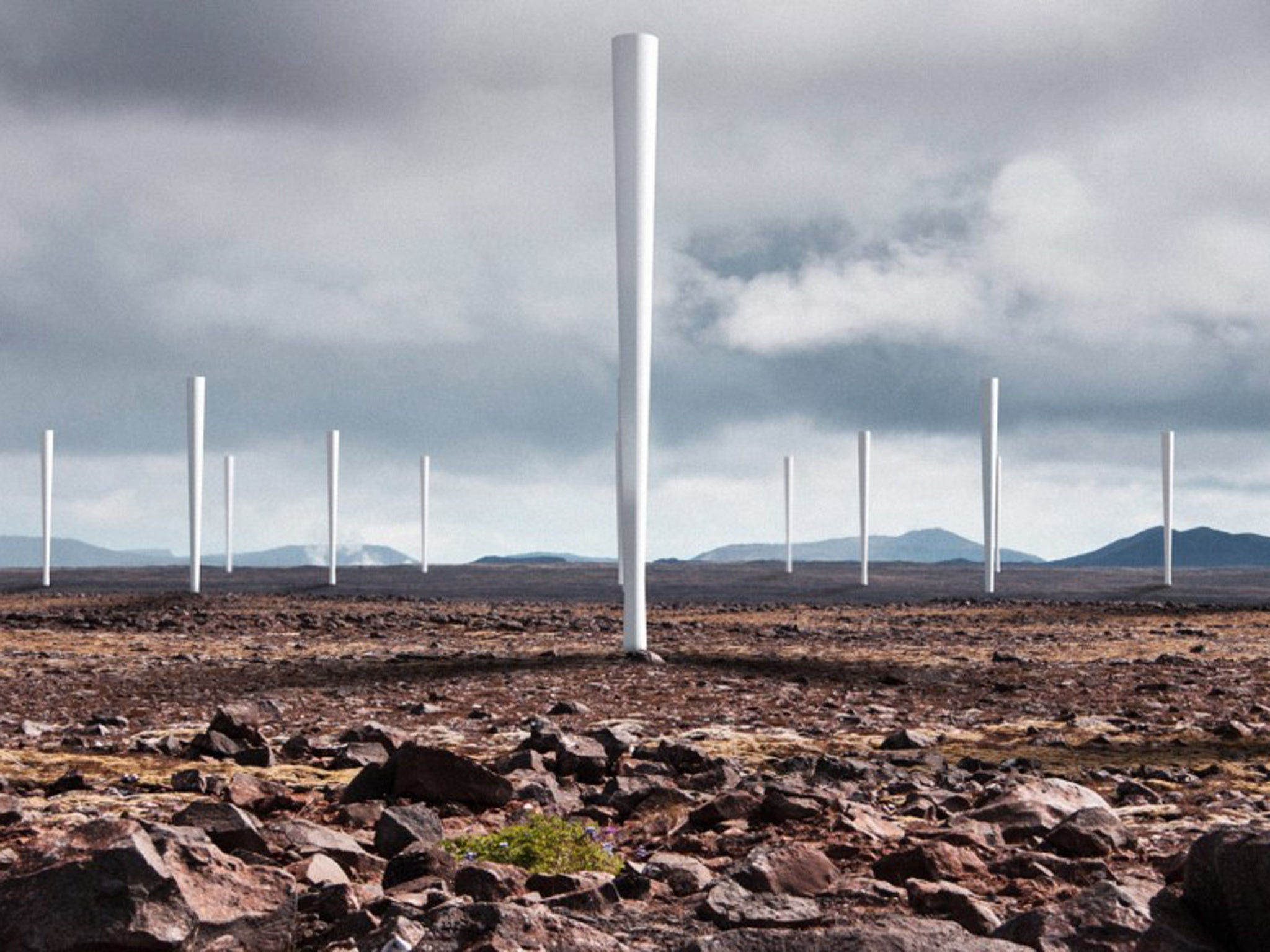 Bladeless wind turbines generate electricity by shaking not