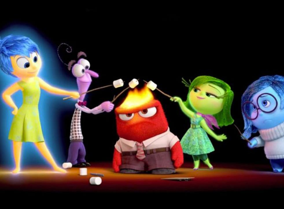 Joy, Fear, Anger, Disgust and Sadness feature inside Riley's mind in 'Inside Out'