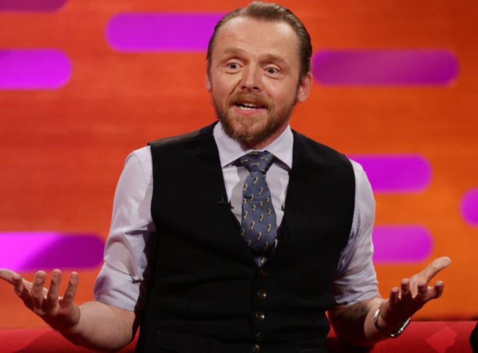 Simon Pegg on The Graham Norton Show last week