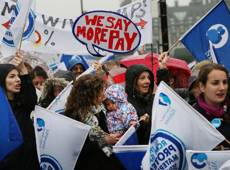 """The Royal College of Midwives have said it's """"premature"""" to threaten strike action at this time"""