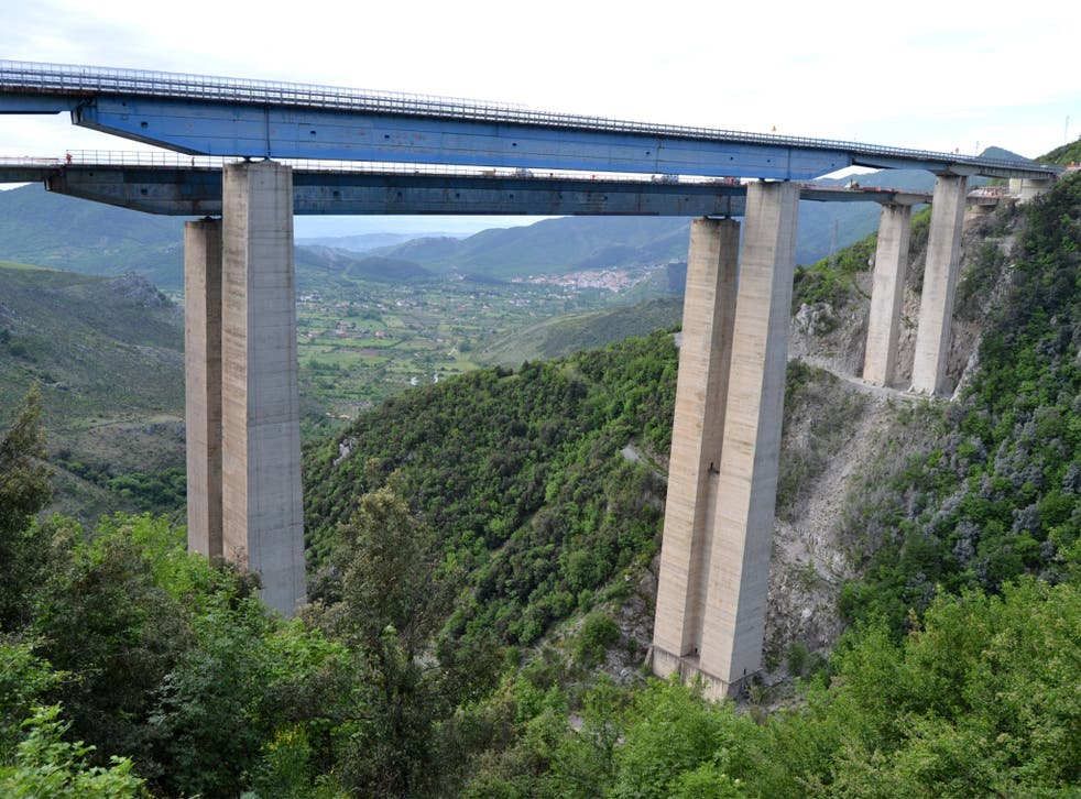 The Rago Viaduct, one of the highest bridges on the A3 highway