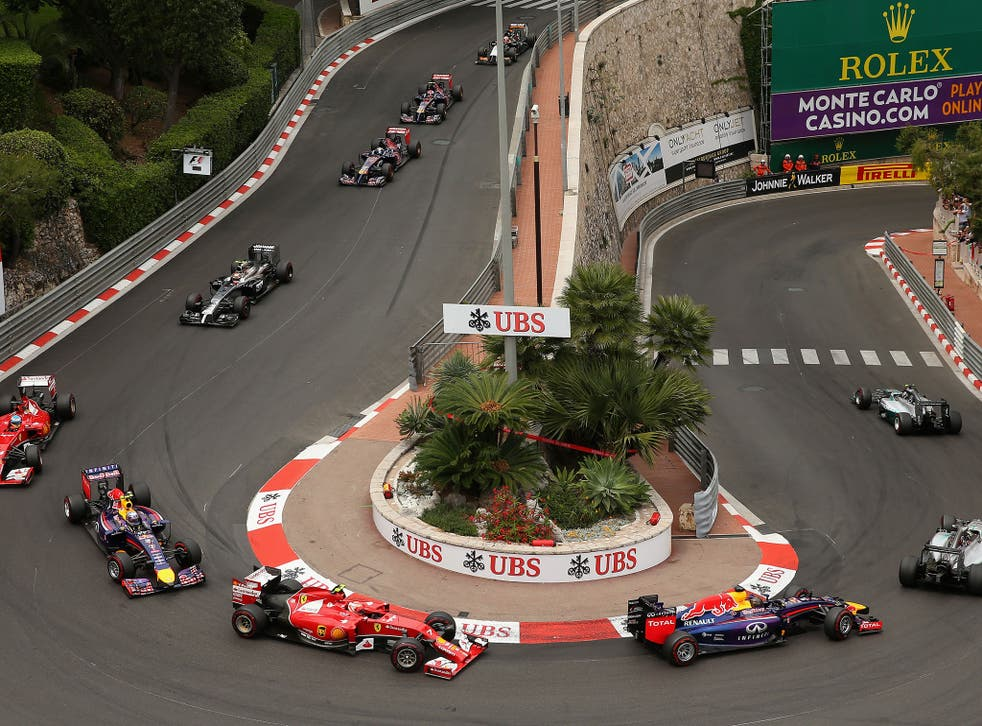A shot from the Lowe's hairpin during the 2014 Monaco Grand Prix