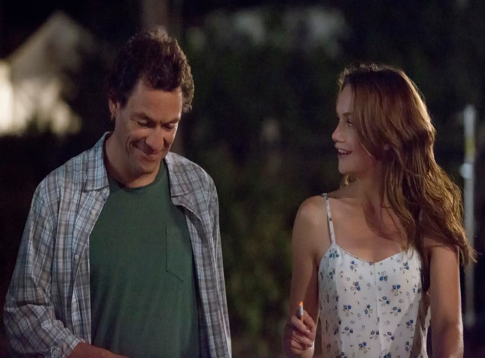 Dominic West as Noah Solloway and Ruth Wilson as Alison Bailey in The Affair
