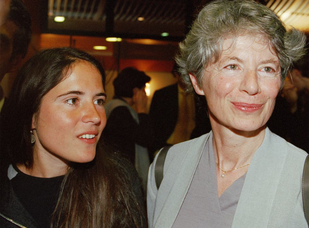 Anne Pingeot, right, with her and François Mitterand's daughter, Mazarine Pingeot