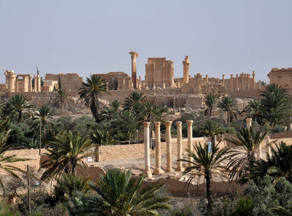 A view of the ancient Syrian city of Palmyra