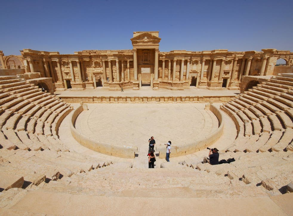 The ancient Palmyra theater