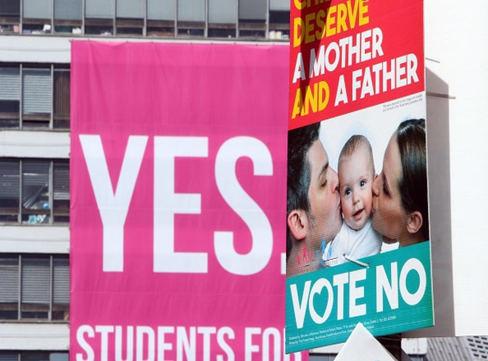 Ireland will be the first country to hold a public vote on whether to legalise gay marriage (AFP/Getty)