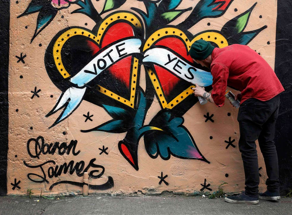 A graffiti artist on the streets of Dublin paints a different picture to the prevailing view in Donegal