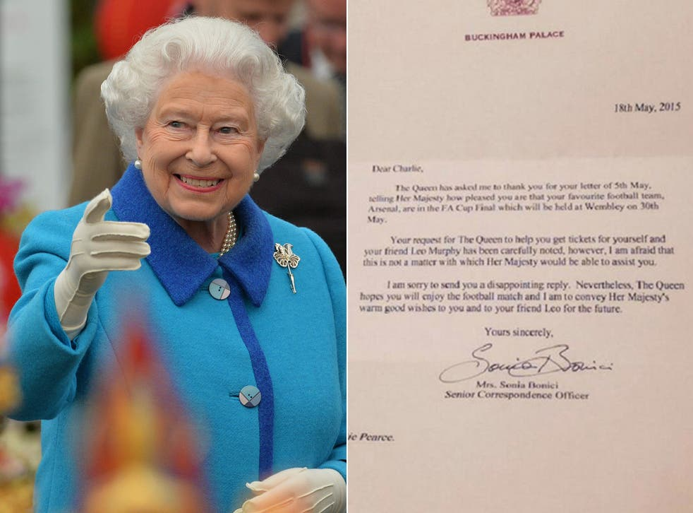The Queen and the letter sent to Charlie