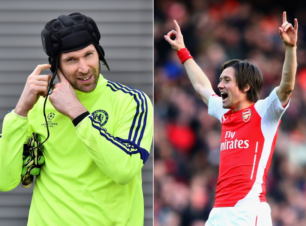 Petr Cech and Tomas Rosicky