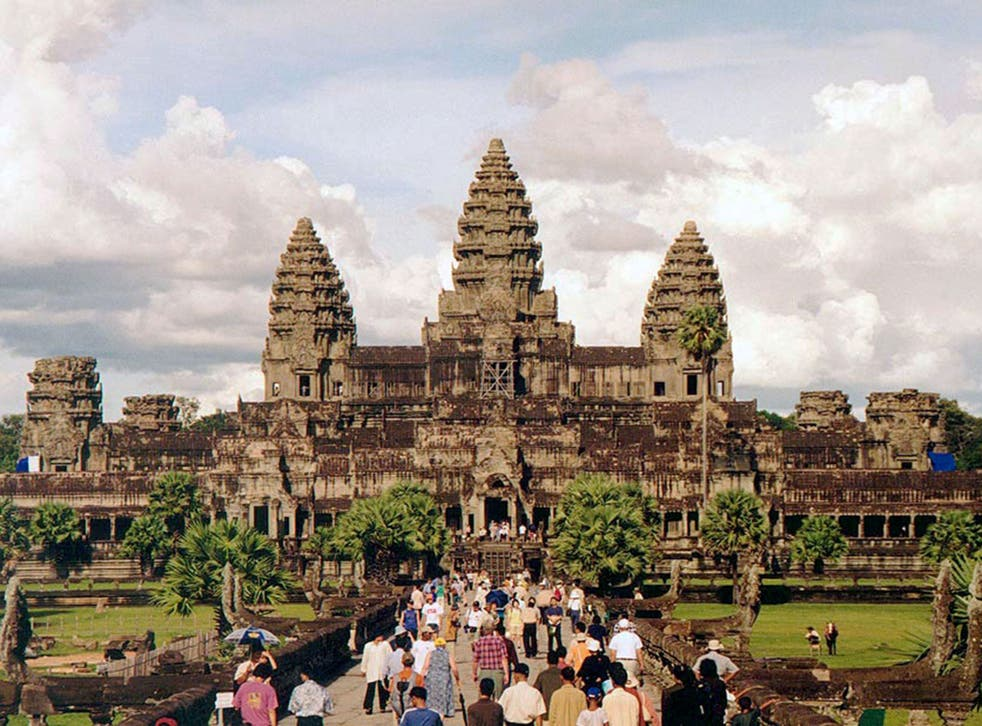 The temples of Angkor, where tourists have been stripping naked