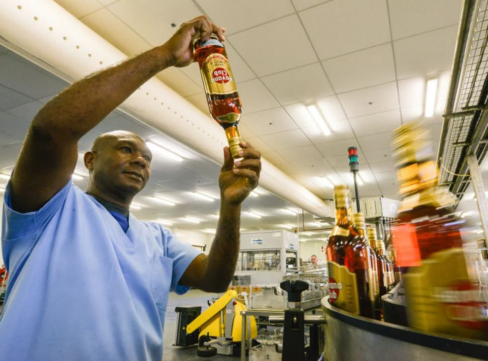 Cuban Havana Club factory, a joint operation between the government and Pernod