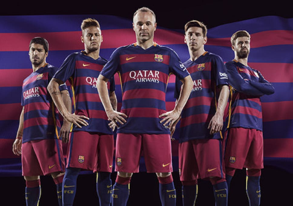 43435f3d9 Barcelona new kit  Club scrap famous stripes as Nike release new shirt -  with hoops