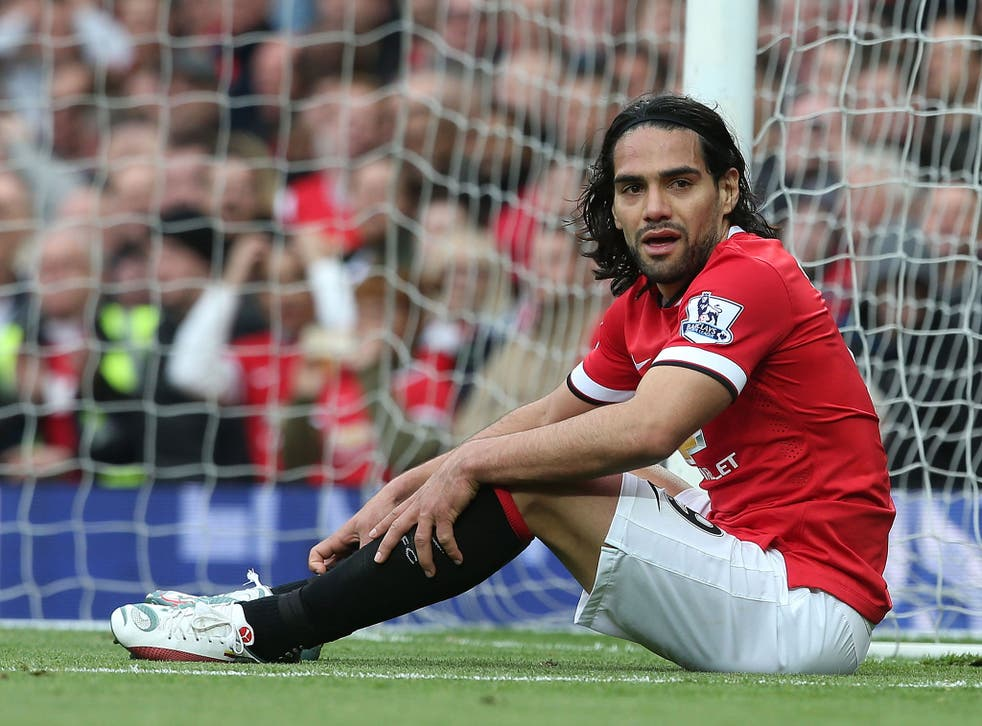 Radamel Falcao during his time at Manchester United