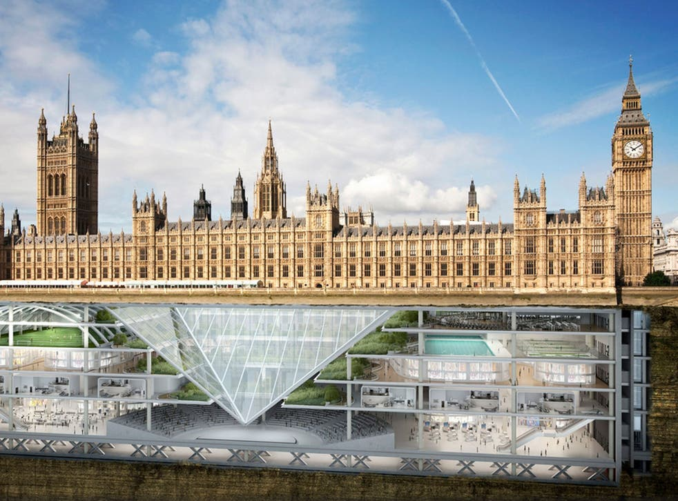 Future MPs will spend much of their time hidden underground, with the House of Commons set above an enormous six storey underground complex