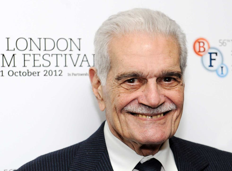Omar Sharif pictured in 2012 at the Lawrence Of Arabia Restoration Screening