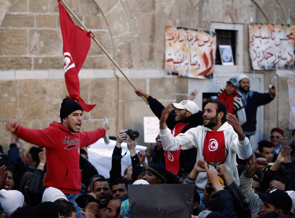 Tunisia's uprising in January 2011 drove support for protests in surrounding countries