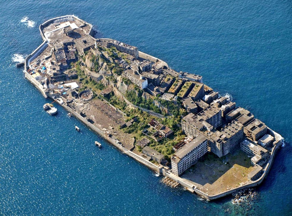 Hashima Island, also known as Battleship Island, is among the seven sites where Korea says 60,000 Koreans were forced to work for no pay