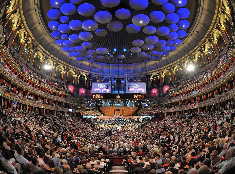 The Last Night of the Proms at the Royal Albert Hall in April.