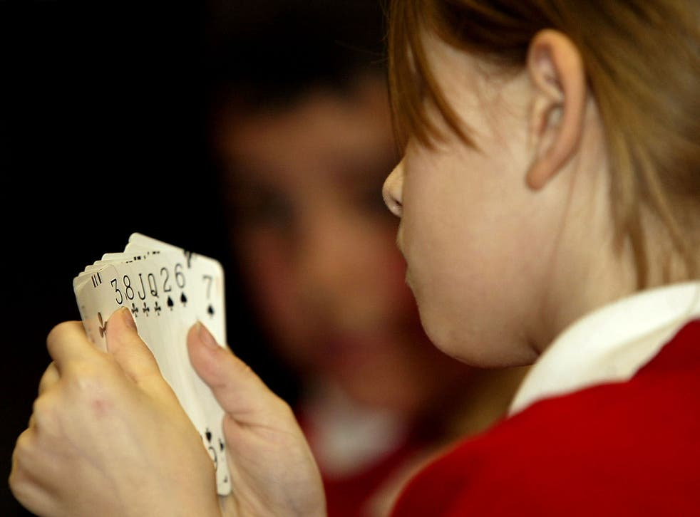 According to a survey of school-age children, only 44 per cent were familiar with a 52-card deck