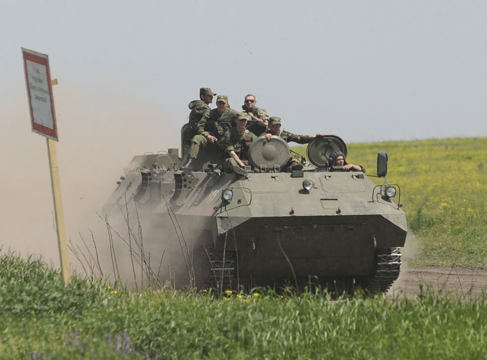 Tanks could be stationed outside of the Russian border in order to respond to attack quickly