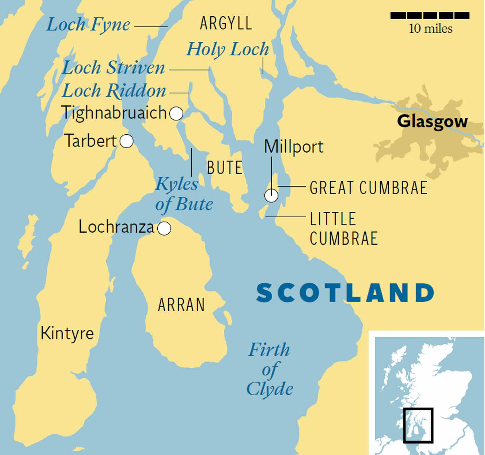 Holy Loch Scotland Map.Cruise Argyll S Coastline Opening Up Lochs Isles And Elusive Sea