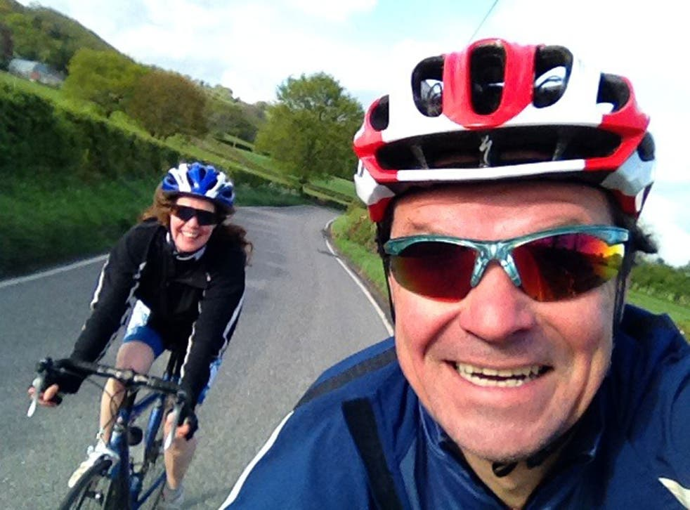 Sharing his passion: Rob takes a selfie en route