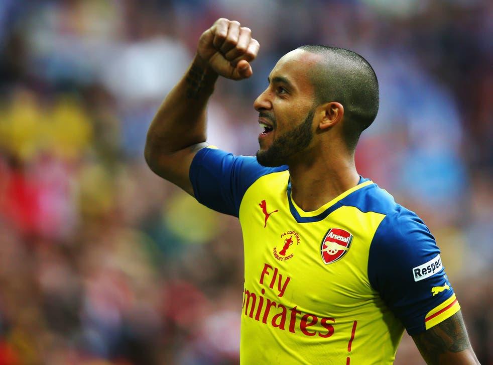 Walcott scored Arsenal's first goal against Aston Villa