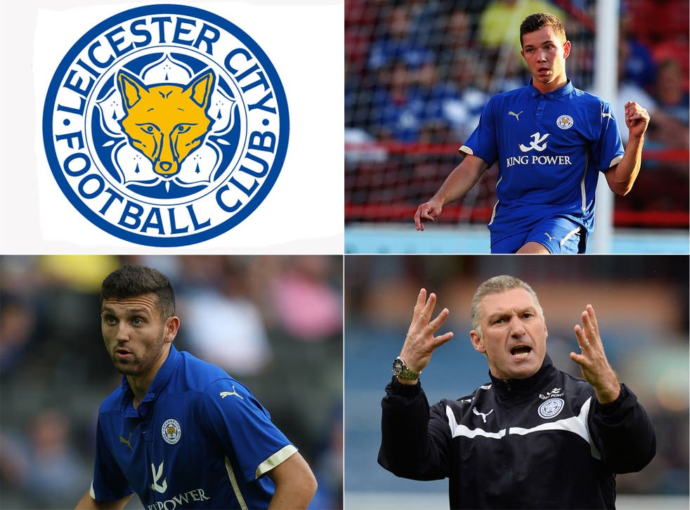 Tom Hopper (top right), Leicester manager Nigel Pearson (bottom right) and James Pearson (bottom left)